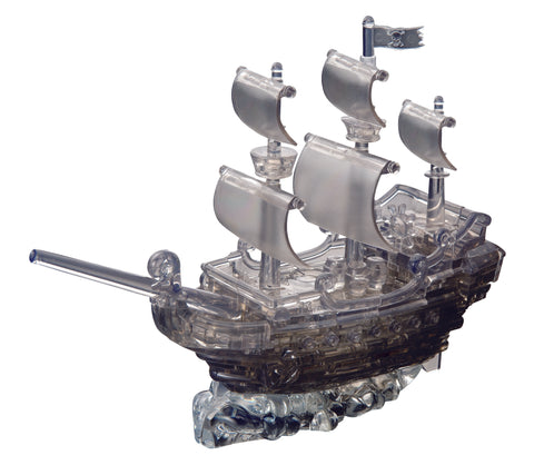 Black Pirate Ship 3D Crystal Puzzle