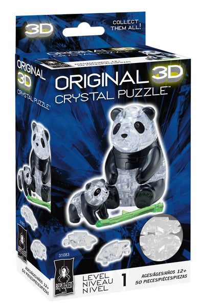 Panda with Baby 3D Crystal Puzzle