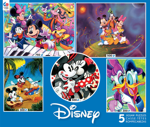 Disney Classics 5 in 1 Pack 300pc 500pc and 750pc Puzzles