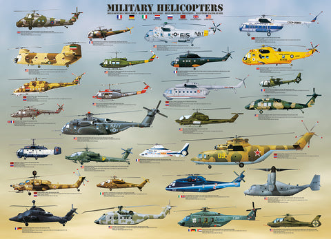 1000pc Military Helicopters Puzzle