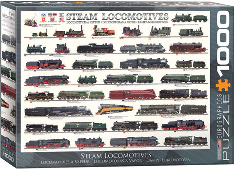 Steam Locomotives 1000pc Puzzle