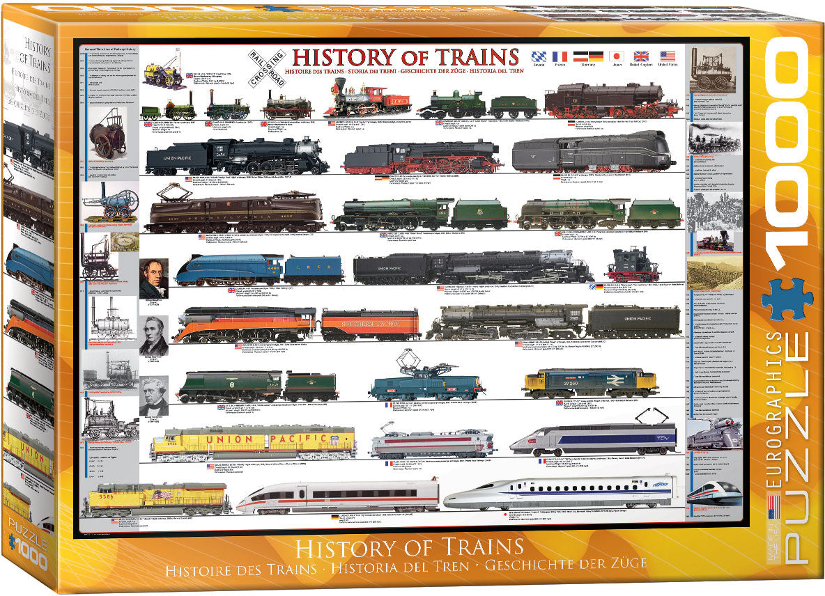 History of Trains 1000pc Puzzle
