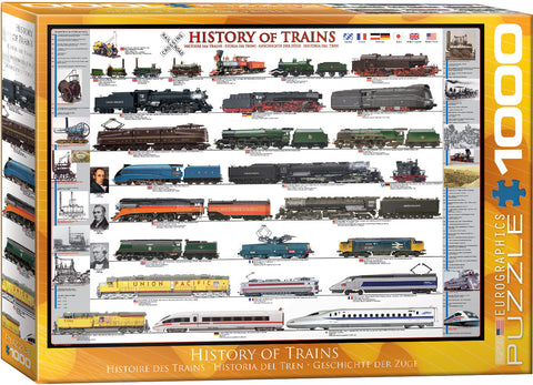 1000pc History of Trains Puzzle