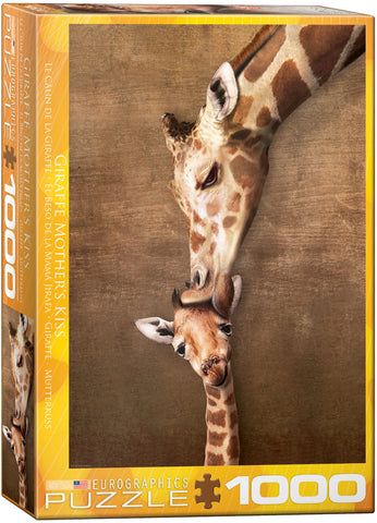 Giraffe Mother's Kiss 1000pc Puzzle