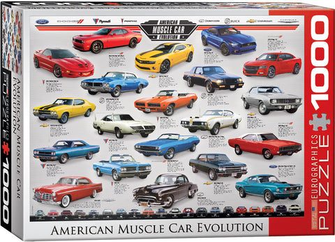 American Muscle Car Evolution 1000pc Puzzle