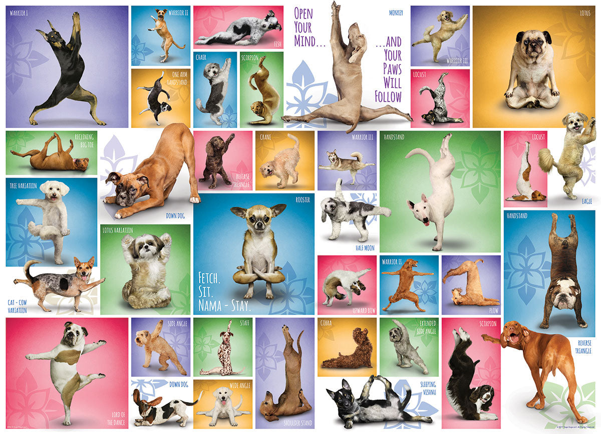 Yoga Dogs 1000pc Puzzle
