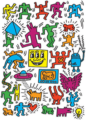 Keith Haring Collage 1000pc Puzzle