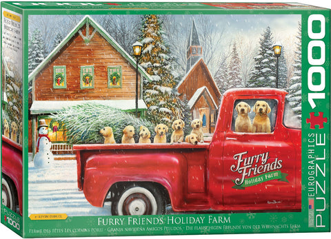 Furry Friends Holiday Farm 1000pc Puzzle