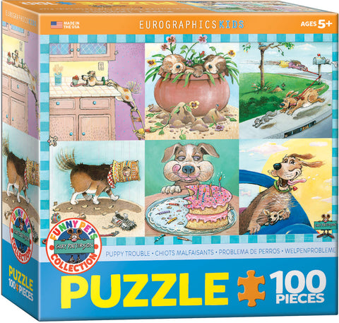 Puppy Trouble 100pc Puzzle