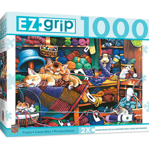 Knittin Kittens 1000pc Large Piece Puzzle