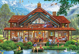 Cut Aways Camping Lodge 1000pc Large Piece Puzzle