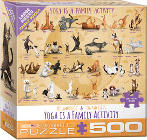 Yoga is a Family Activity  500pc Large Piece Puzzle