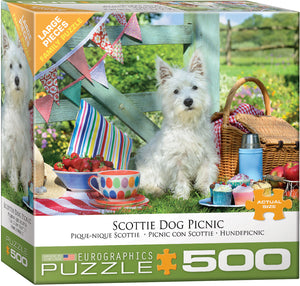 Scottie Dog Picnic 500pc Large Piece Puzzle