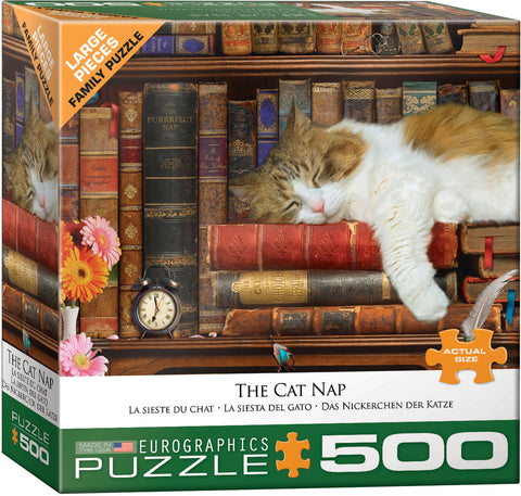 The Cat Nap 500pc Large Piece Puzzle