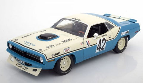"1/18 1970 Plymouth Hemi Barracuda #42 Henri Chemin ""Chrysler of France"""