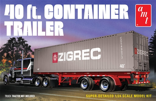 AMT 1/24 1940 Semi Container Trailer