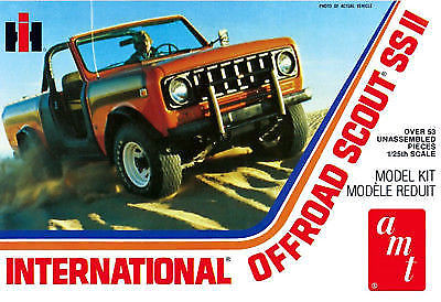 AMT 1/25 Scale International Scout II Plastic Model Kit
