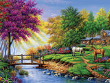Cabin by the Stream 550pc Puzzle
