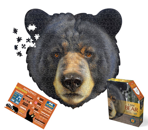 Bear head shaped 550 piece puzzles