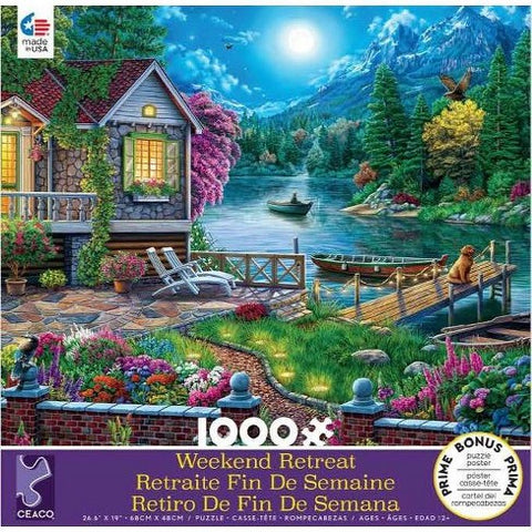Lakehouse Weekend Retreat 1000pc Puzzle