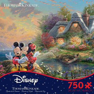 Thomas Kinkade Disney Mickey and Minnie 750pc Puzzle