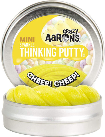 "2"" Cheep Cheep Sparkle Crazy Aaron's Thinking Putty"