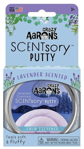 "2.75"" Calm Presence Lavender Scented Crazy Aaron's SCENTSory Thinking Putty"