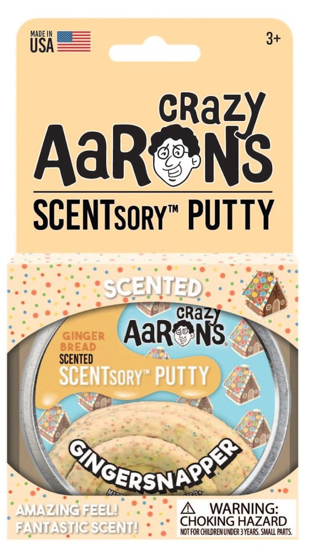 "2.75"" Gingersnapper Scented Crazy Aaron's SCENTsory Thinking Putty"