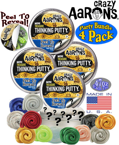 "2"" Treasure Surprise Peel to Reveal Crazy Aaron's Thinking Putty"