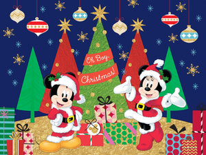 Mickey and Minnie Celebrate the Season 400pc Together Time Puzzle