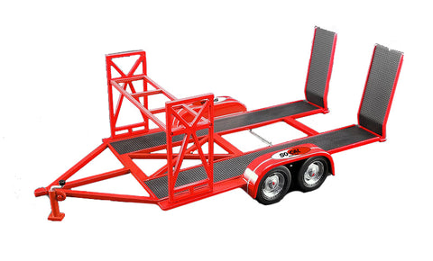 "Tandem Car Trailer with Tire Rack ""So-Cal Speed Shop"" Red Limited Edition"