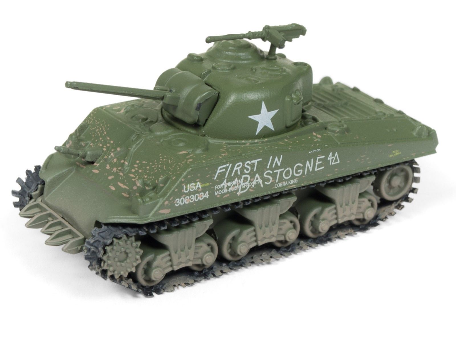 Johnny Lightning 1/100 Scale WWII M4A3 Sherman Tank & The Chateau Diorama JLDS001S