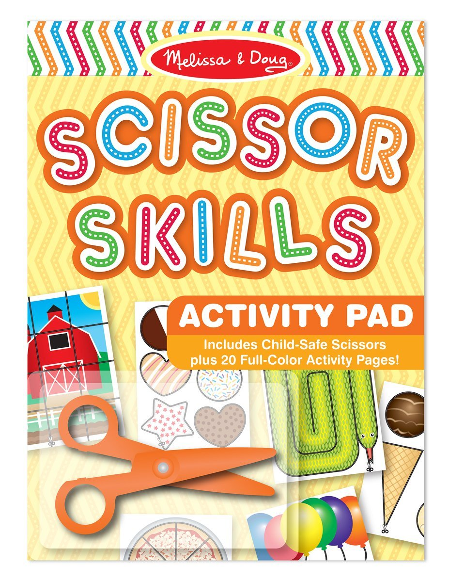 Scissor Skills Activity Book With Pair of Child-Safe Scissors (20 Pages)