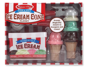 Scoop and Stack Ice Cream Cone Magnetic Pretend Play Set