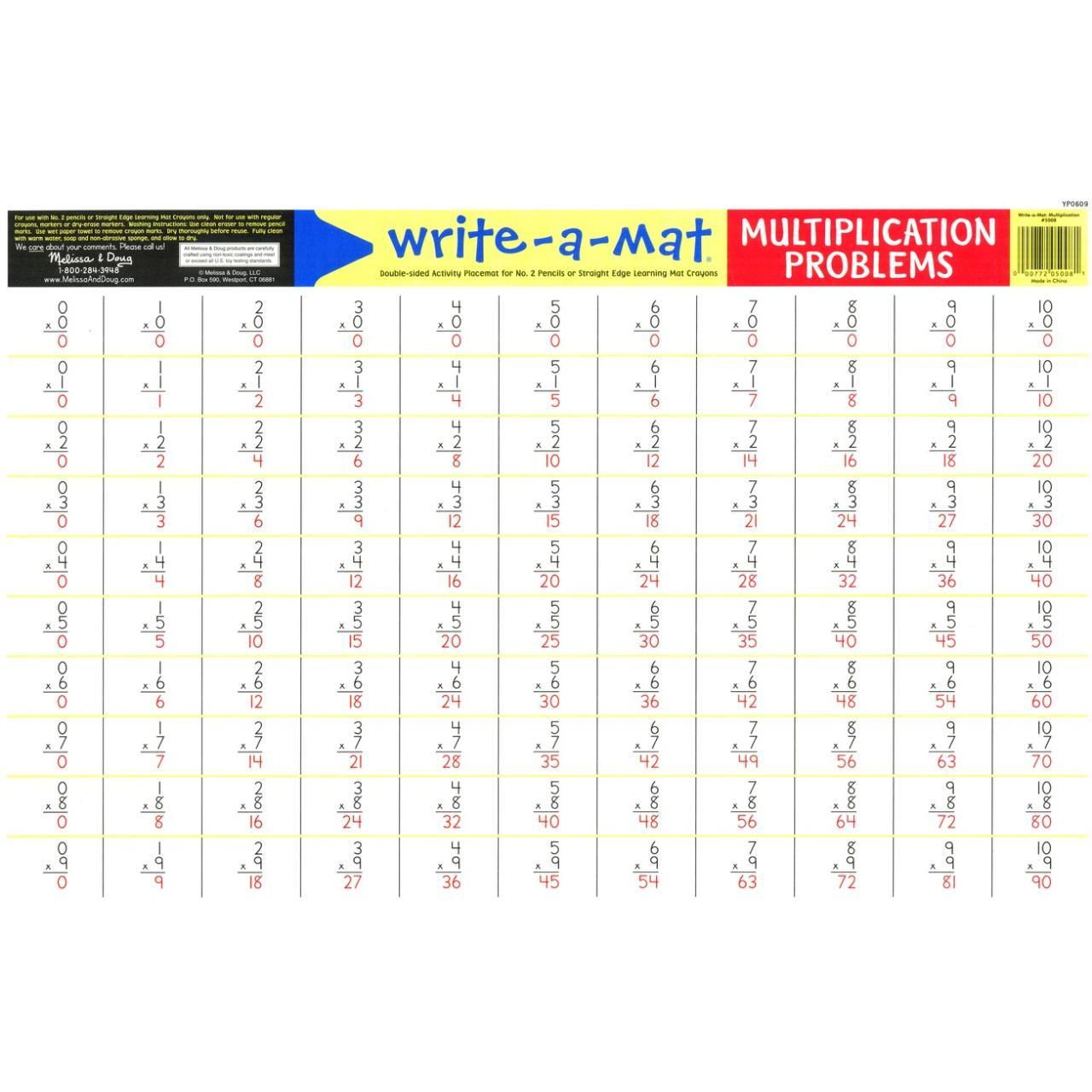 Write-A-Mat Multiplcation Problems