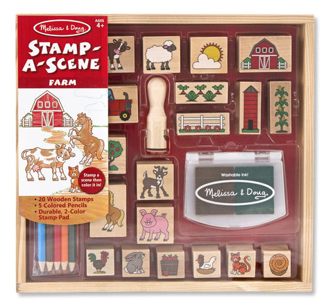 Stamp-a-Scene Wooden Stamp Set Farm