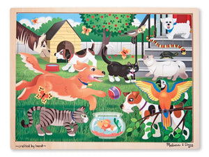 Pets at Play Wooden Jigsaw Puzzle With Storage Tray (24 pcs)