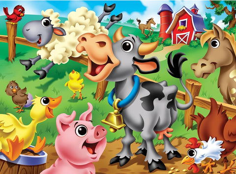 Googly Eyes Farm Animals 48pc Puzzle