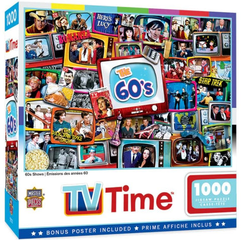 TV Time - 60s Shows 1000pc Puzzle