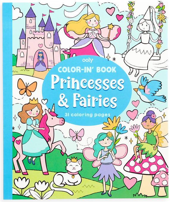 Color-In Book Princess & Fairies