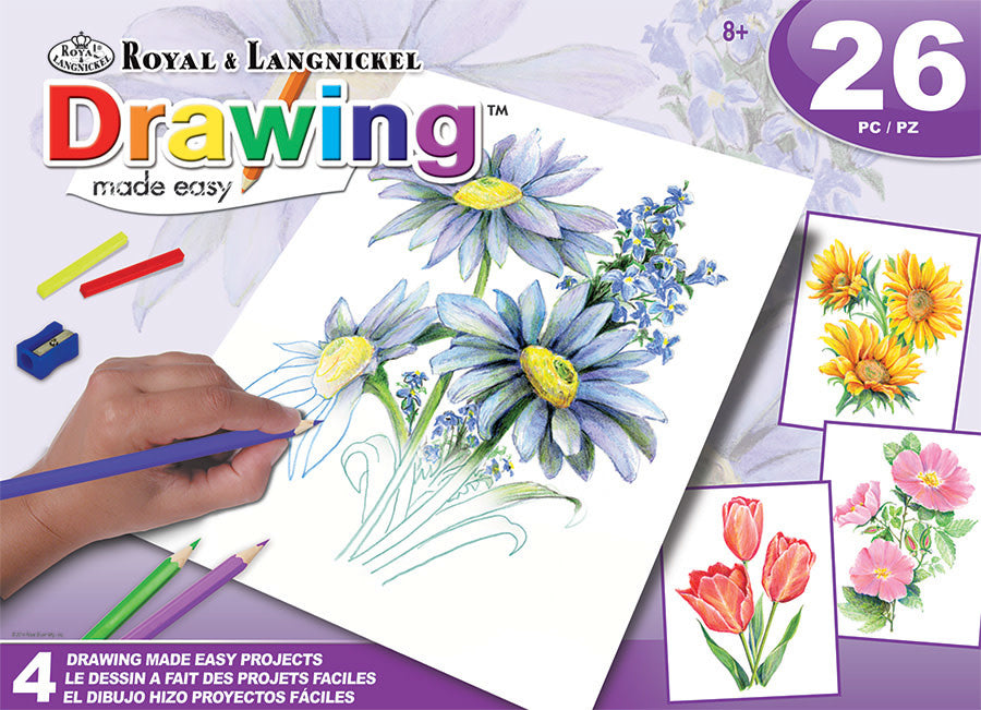 Drawing Made Easy Flowers Boxset