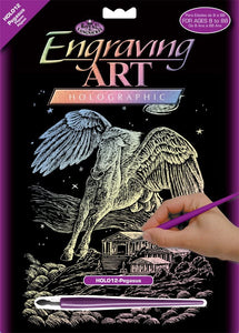 Engraving Art Pegasus