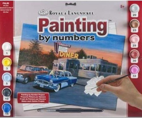 Paint By Number Adult Large 50's Diner