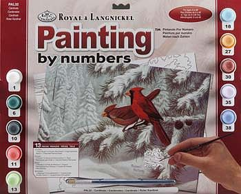 Paint By Number Adult Large Cardinals