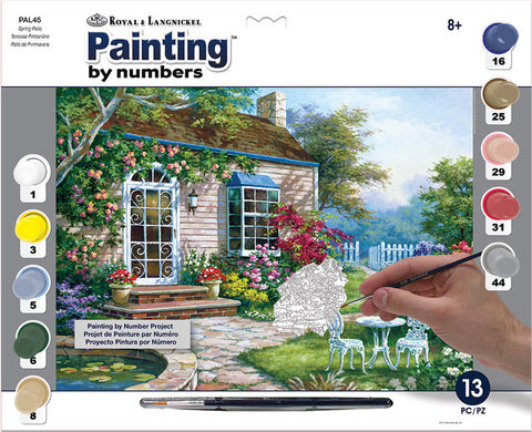 Paint By Number Adult Large Spring Patio