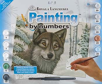 Paint By Number Junior Large Snow Wolf