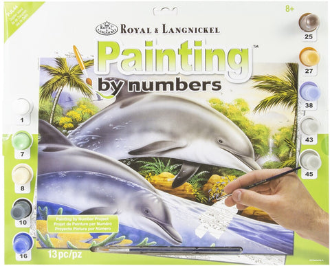 Paint By Number Junior Large Dolphin Island
