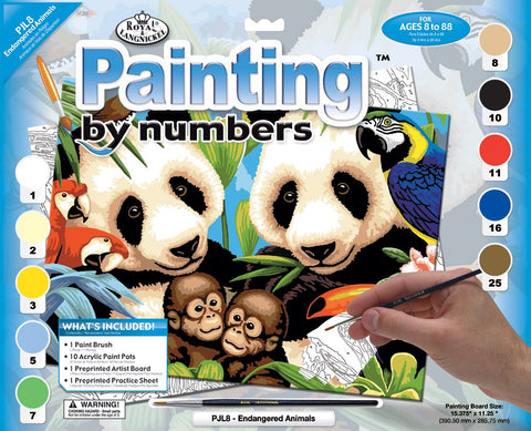 Paint By Number Junior Large Endangered Animals