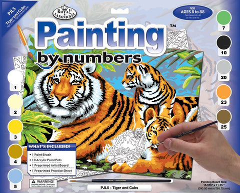 Paint By Number Junior Small Tigers
