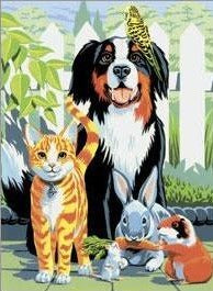 Paint By Number Junior Small Family Pets